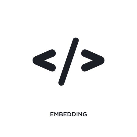 embedding isolated icon. simple element illustration from technology concept icons. embedding editable logo sign symbol design on white background. can be use for web and mobile Stock Vector - 134971528