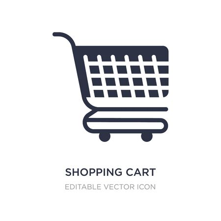 shopping cart with grills icon on white background. Simple element illustration from Commerce concept. shopping cart with grills icon symbol design. Ilustracja
