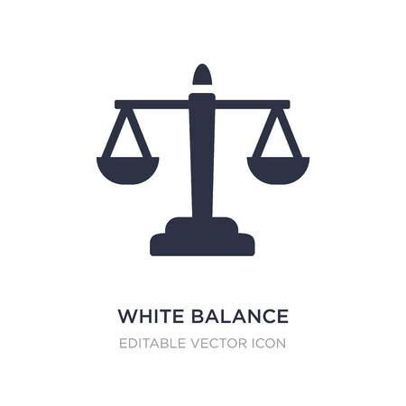 white balance icon on white background. Simple element illustration from UI concept. white balance icon symbol design.
