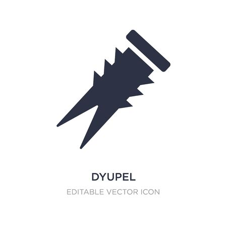 dyupel icon on white background. Simple element illustration from General concept. dyupel icon symbol design.