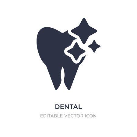 dental icon on white background. Simple element illustration from Dentist concept. dental icon symbol design. Illustration