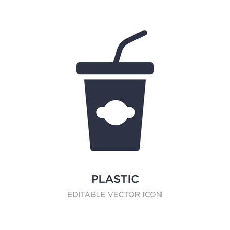 plastic drinking cup icon on white background. Simple element illustration from Food concept. plastic drinking cup icon symbol design.