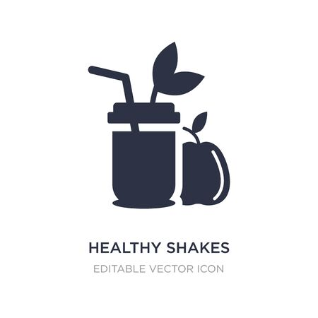 healthy shakes icon on white background. Simple element illustration from Food concept. healthy shakes icon symbol design. Illustration