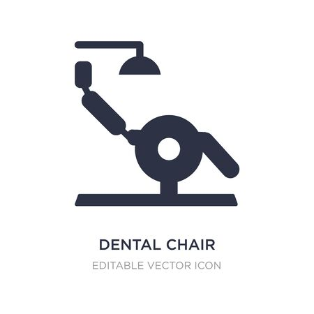 dental chair icon on white background. Simple element illustration from Dentist concept. dental chair icon symbol design.