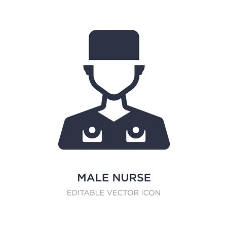male nurse icon on white background. Simple element illustration from Dentist concept. male nurse icon symbol design. Illustration