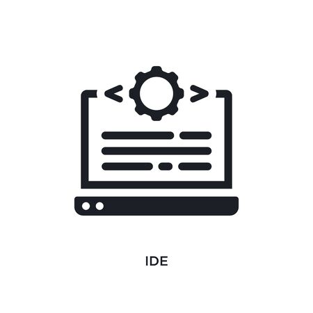 ide isolated icon. simple element illustration from technology concept icons. ide editable logo sign symbol design on white background. can be use for web and mobile Illustration