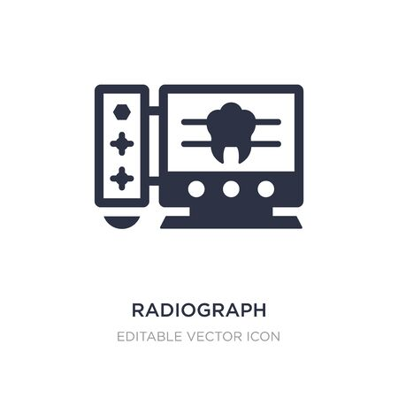 radiograph icon on white background. Simple element illustration from Dentist concept. radiograph icon symbol design.