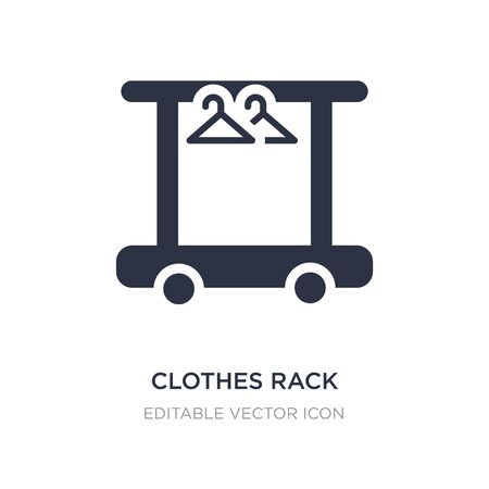 clothes rack icon on white background. Simple element illustration from Tools and utensils concept. clothes rack icon symbol design.