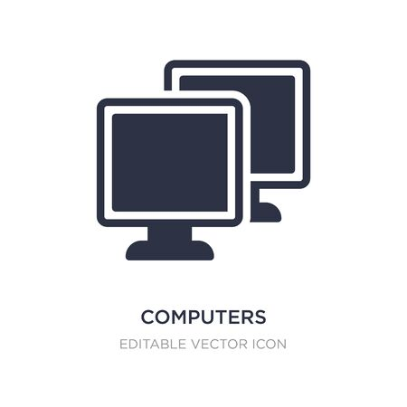 computers icon on white background. Simple element illustration from Computer concept. computers icon symbol design. Stock Vector - 134972026
