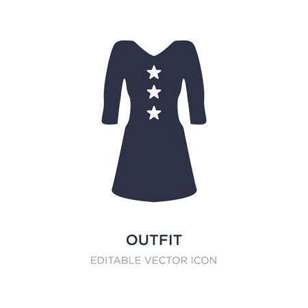 outfit icon on white background. Simple element illustration from Fashion concept. outfit icon symbol design. Ilustração