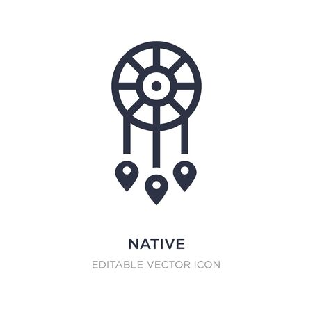 native icon on white background. Simple element illustration from Cultures concept. native icon symbol design.