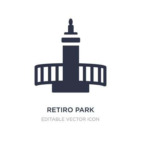 retiro park icon on white background. Simple element illustration from Monuments concept. retiro park icon symbol design.