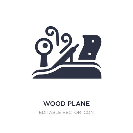 wood plane icon on white background. Simple element illustration from Architecture and city concept. wood plane icon symbol design. Vectores