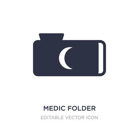 medic folder icon on white background. Simple element illustration from Animals concept. medic folder icon symbol design.
