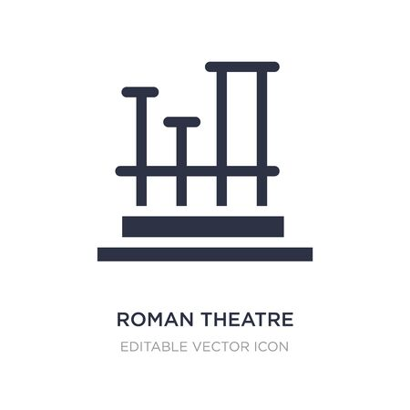 roman theatre of merida icon on white background. Simple element illustration from Monuments concept. roman theatre of merida icon symbol design.