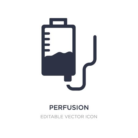 perfusion icon on white background. Simple element illustration from Medical concept. perfusion icon symbol design.