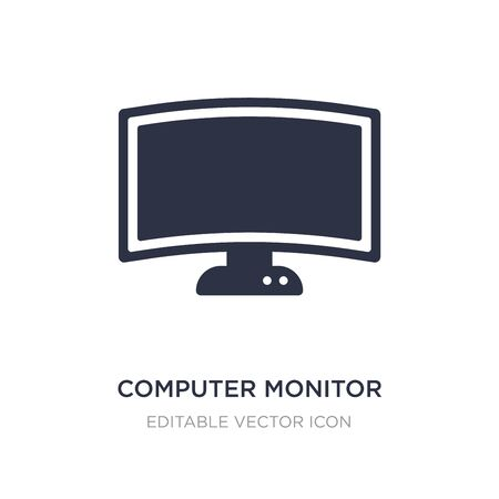 computer monitor icon on white background. Simple element illustration from Computer concept. computer monitor icon symbol design.