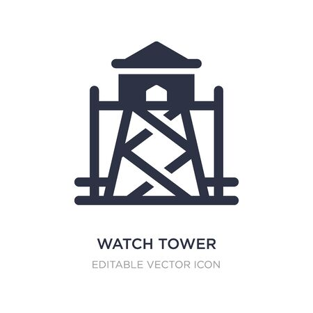 watch tower icon on white background. Simple element illustration from Security concept. watch tower icon symbol design. Illustration