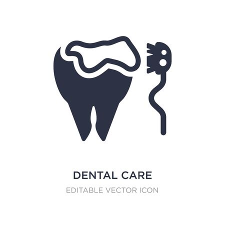 dental care icon on white background. Simple element illustration from Dentist concept. dental care icon symbol design. Illusztráció