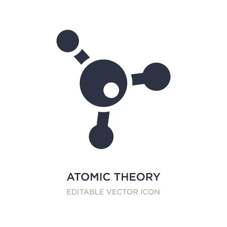 atomic theory icon on white background. Simple element illustration from Education concept. atomic theory icon symbol design. Illustration