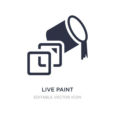 live paint icon on white background. Simple element illustration from General concept. live paint icon symbol design.