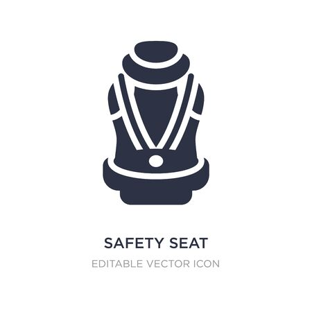 safety seat icon on white background. Simple element illustration from Security concept. safety seat icon symbol design. 일러스트