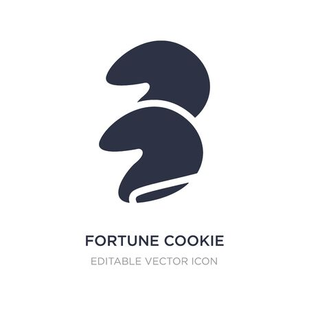 fortune cookie icon on white background. Simple element illustration from Food concept. fortune cookie icon symbol design.
