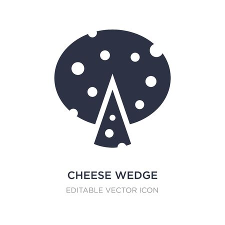 cheese wedge icon on white background. Simple element illustration from Food concept. cheese wedge icon symbol design. Illusztráció