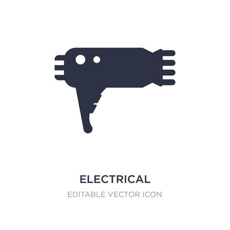 electrical appliances icon on white background. Simple element illustration from Fashion concept. electrical appliances icon symbol design.