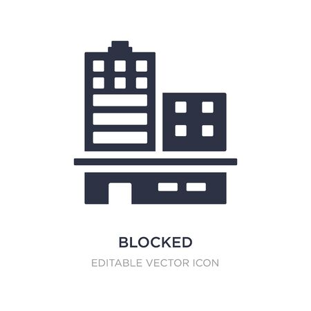 blocked icon on white background. Simple element illustration from Buildings concept. blocked icon symbol design. 일러스트