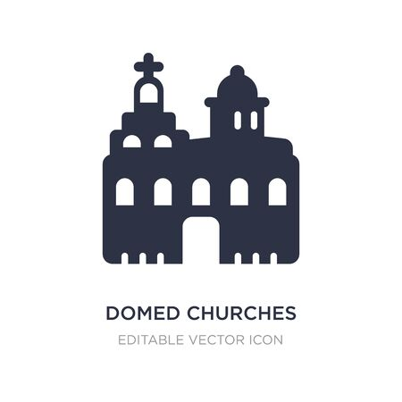 domed churches icon on white background. Simple element illustration from Monuments concept. domed churches icon symbol design. Illusztráció