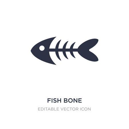 fish bone icon on white background. Simple element illustration from Animals concept. fish bone icon symbol design.