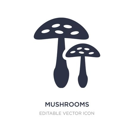 mushrooms icon on white background. Simple element illustration from Food concept. mushrooms icon symbol design.