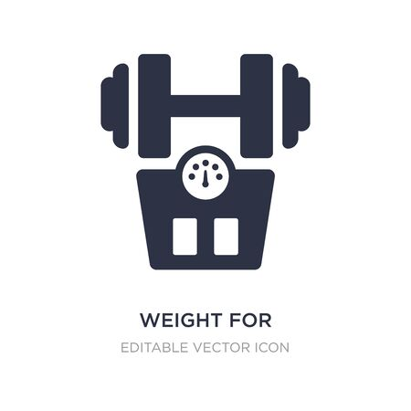 weight for medical sport practice icon on white background. Simple element illustration from Medical concept. weight for medical sport practice icon symbol design.