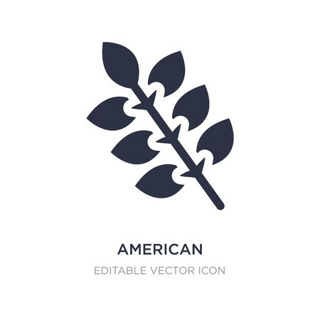 american mountain ash icon on white background. Simple element illustration from Nature concept. american mountain ash icon symbol design.