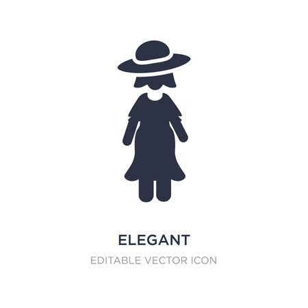 elegant icon on white background. Simple element illustration from People concept. elegant icon symbol design. Stock Illustratie