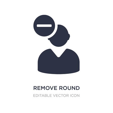 remove round button icon on white background. Simple element illustration from UI concept. remove round button icon symbol design. Illustration