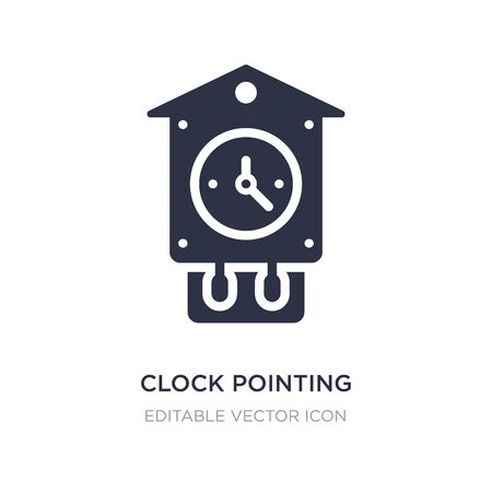 clock pointing four oclock icon on white background. Simple element illustration from Other concept. clock pointing four oclock icon symbol design.