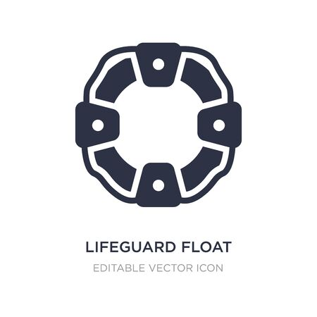 lifeguard float icon on white background. Simple element illustration from Security concept. lifeguard float icon symbol design.