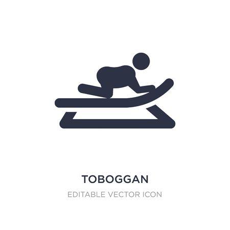 toboggan icon on white background. Simple element illustration from Entertainment concept. toboggan icon symbol design. 일러스트