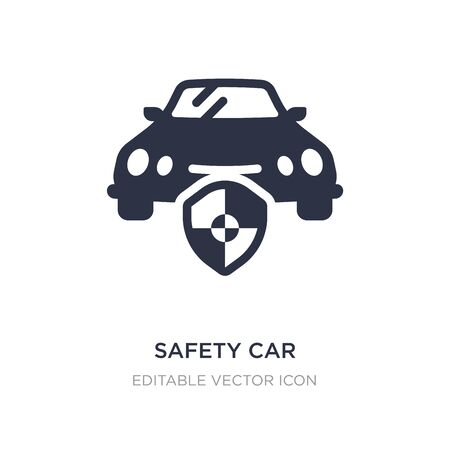safety car icon on white background. Simple element illustration from Security concept. safety car icon symbol design.