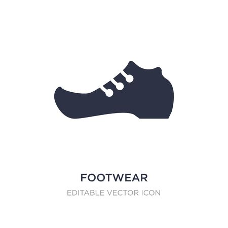 footwear icon on white background. Simple element illustration from Fashion concept. footwear icon symbol design. Vettoriali