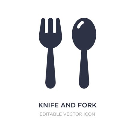 knife and fork icon on white background. Simple element illustration from Food concept. knife and fork icon symbol design.