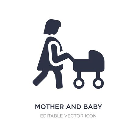 mother and baby icon on white background. Simple element illustration from People concept. mother and baby icon symbol design.