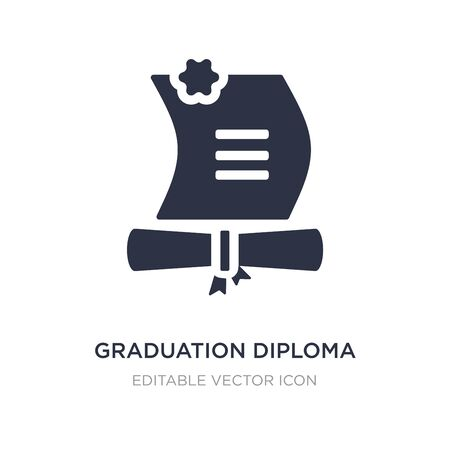 graduation diploma icon on white background. Simple element illustration from Education concept. graduation diploma icon symbol design. Ilustração