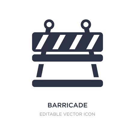 barricade icon on white background. Simple element illustration from Security concept. barricade icon symbol design.