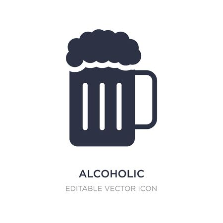alcoholic icon on white background. Simple element illustration from Food concept. alcoholic icon symbol design.