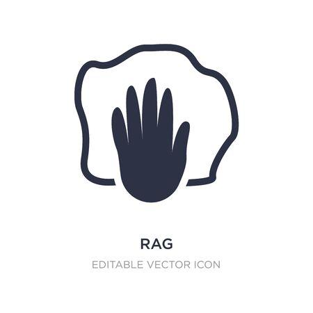 rag icon on white background. Simple element illustration from Fashion concept. rag icon symbol design. Иллюстрация