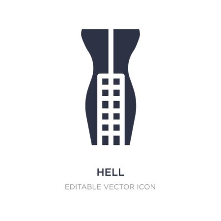 hell icon on white background. Simple element illustration from Fashion concept. hell icon symbol design.