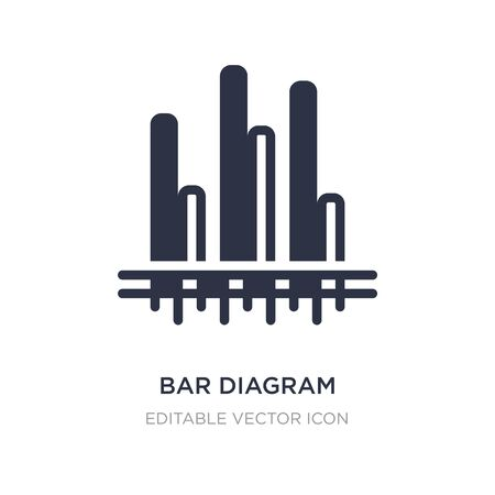 bar diagram icon on white background. Simple element illustration from Business concept. bar diagram icon symbol design.